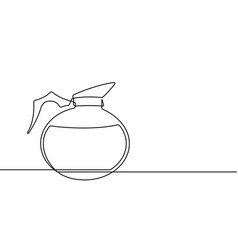 coffee pot continuous line graphic vector image