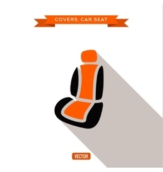 Covers and car seats for the car vector image