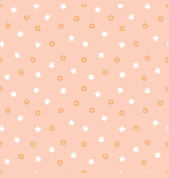 Cute modern kids and baby girl pink stars pattern vector