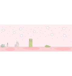 Cute Townscape Scene vector image