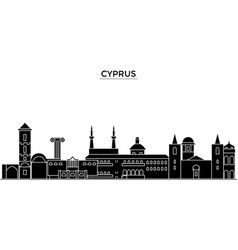 Cyprus architecture city skyline travel vector