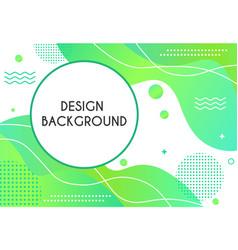 design of green background vector image
