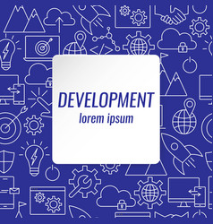 development outline icons set vector image