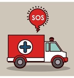 emergency service design vector image