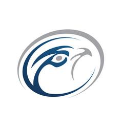 falcon logo design business concept vector image