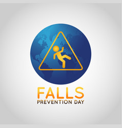 falls prevention day logo icon vector image