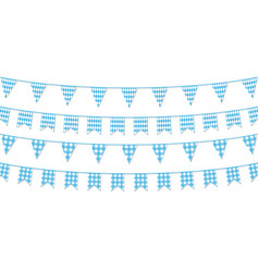 festive paper garland collection isolated vector image