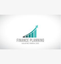 finance planning logo design vector image