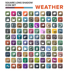 Flat color weather icons flat vector