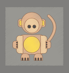 Flat shading style icon kids monkey vector