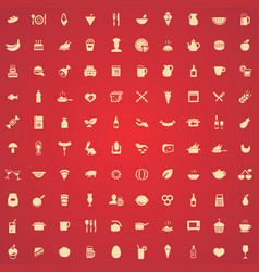 food 100 icons universal set for web and ui vector image