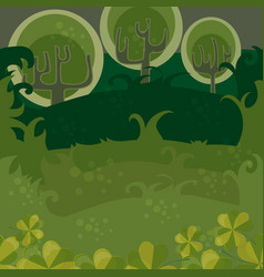 forest of magic trees seamless vector image