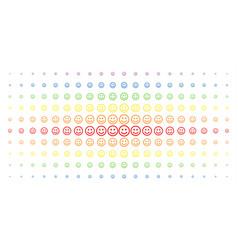 Glad smiley spectral halftone array vector