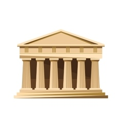 Greek temple icon isolated on white background vector