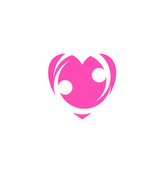 hearth care logo concept charity logo template vector image