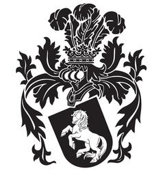 heraldic silhouette no9 vector image