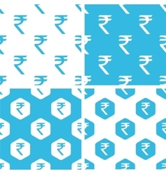 Indian rupee patterns set vector