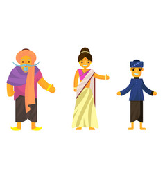 Indians in national dress a man and a woman in vector