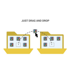 Just drag and drop vector