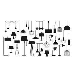 Lamp for room lighting vector