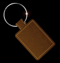 Leather key fob vector