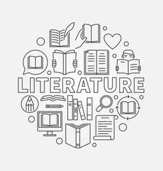 literature round vector image vector image