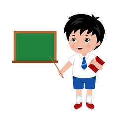 Little boy in school uniform vector