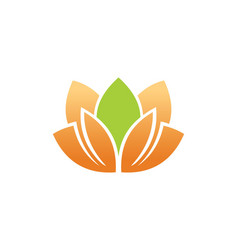 Lotus flower beauty spa logo vector