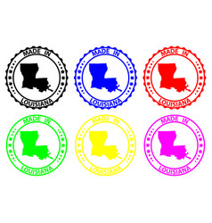 Made in louisiana rubber stamp vector