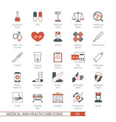 Medical and Health Care Icons Set 03 vector