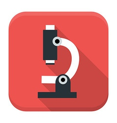 Microscope app icon with long shadow vector