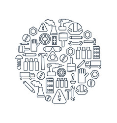 Monochrome industry circle concept vector