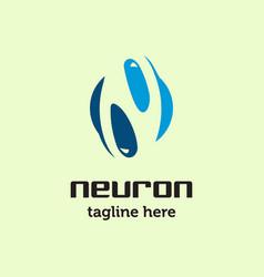 neuron logo vector image