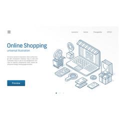 online shopping modern isometric line vector image