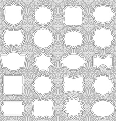 Ornate Label Frames vector