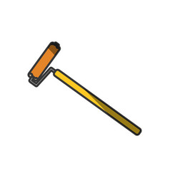 Painting roller tool vector