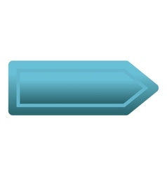 Player blue button icon flat style vector image