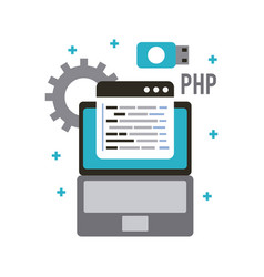 programming and coding concept website development vector image