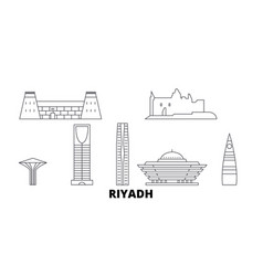 saudi arabia riyadh line travel skyline set vector image