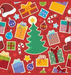 seamless background christmas 1 vector image