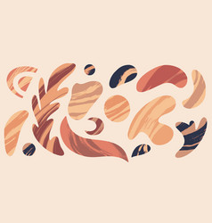 set hand drawn abstract flat elements vector image