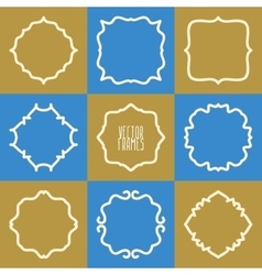 Set of abstract hipster logo badges frames vector image