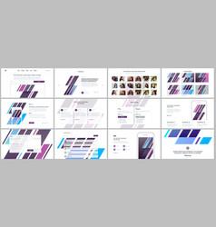 set of templates for website design vector image