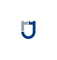 shield letter j logo icon design vector image