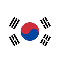 south korea flag korean national icon symbol vector image