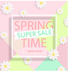 spring super sale vector image