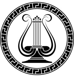 Stencil of lyre vector