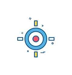 target aim goal icon design vector image