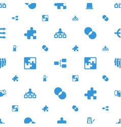 teamwork icons pattern seamless white background vector image