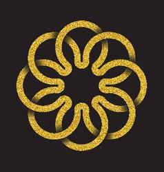 Tribal symbol in circular mandala form vector